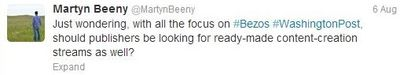 Beeny_First Tweet